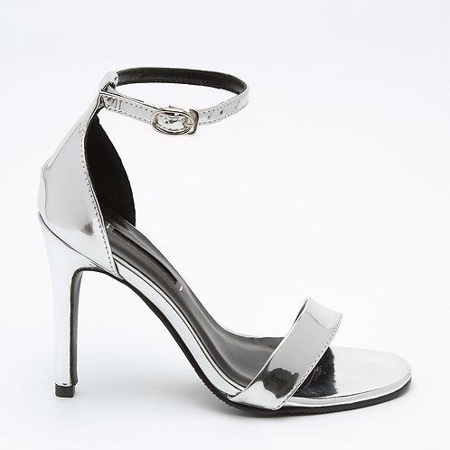 Silver High Heel Stiletto Sandals Size 32-35