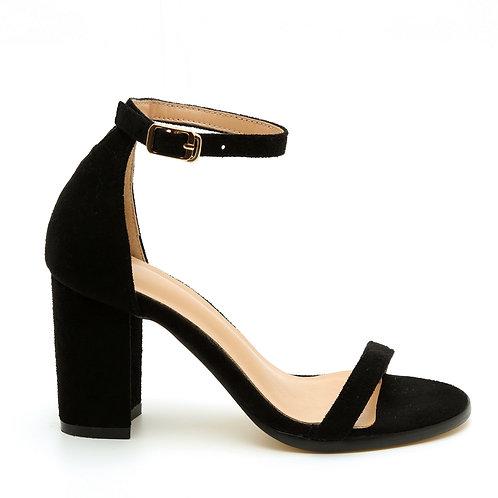 Black Block Heel Classic Sandals Size 34-35