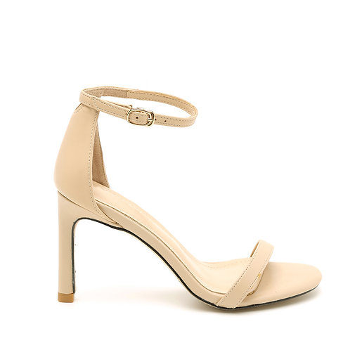 Nude 8 CM Thin Heel And Straps Size 33-35