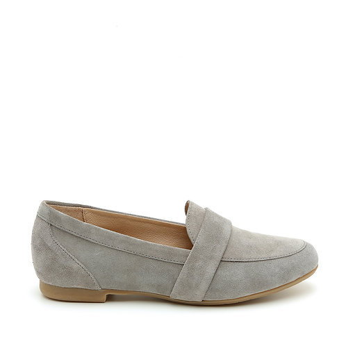 Light Grey Flat Moccasin Size 33-35