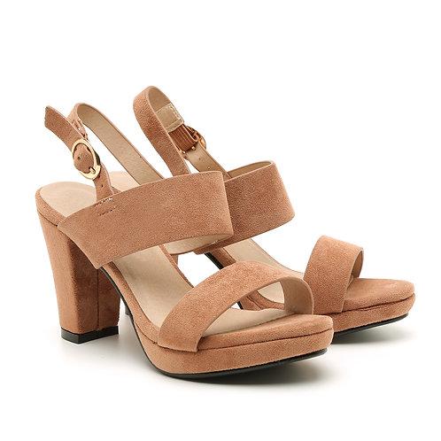 Ancient Pink Platform Thick Heel Sandals Size 32-35