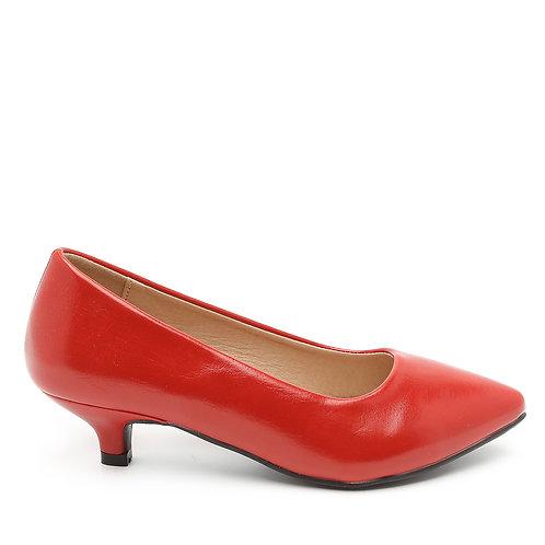 Low Heel Red Pumps Size 32
