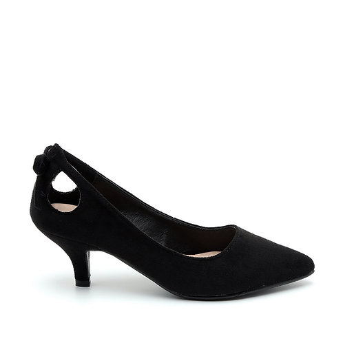 Black Heel Openings Decorative knot Pumps Size 32-35