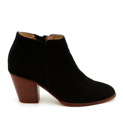 Black Wooden Heel Boots Size 35