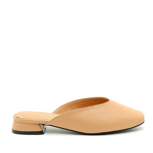 Apricot Tiny Heel Mules Size 35