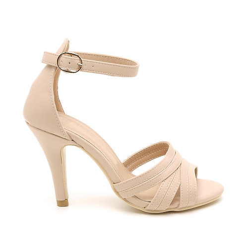 Nude Pink High Heel Sandals Size 32-35