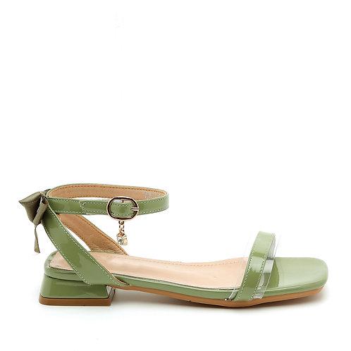 Green Low Heel Princess Sandals Size 30-35