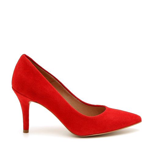 Red Suede 8 CM Classic Pumps Size 33-35