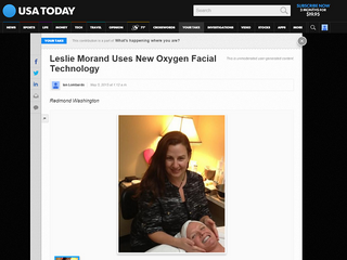 USA Today on Le Vie Skincare Facial