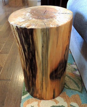 """Reclaimed Stump"" End Table"