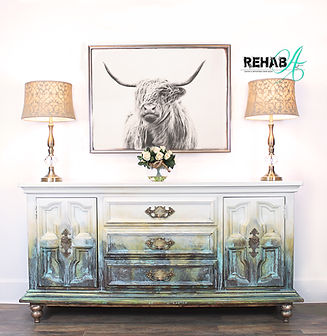 Perfect BISON abstract Paint & Patina Cr