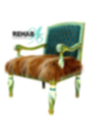 Neon Classico Blank Background chair wit