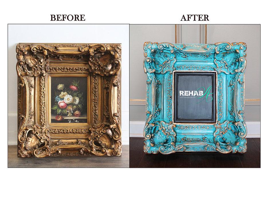 Blue and Gold Ornate Chalkboard Frame.jp
