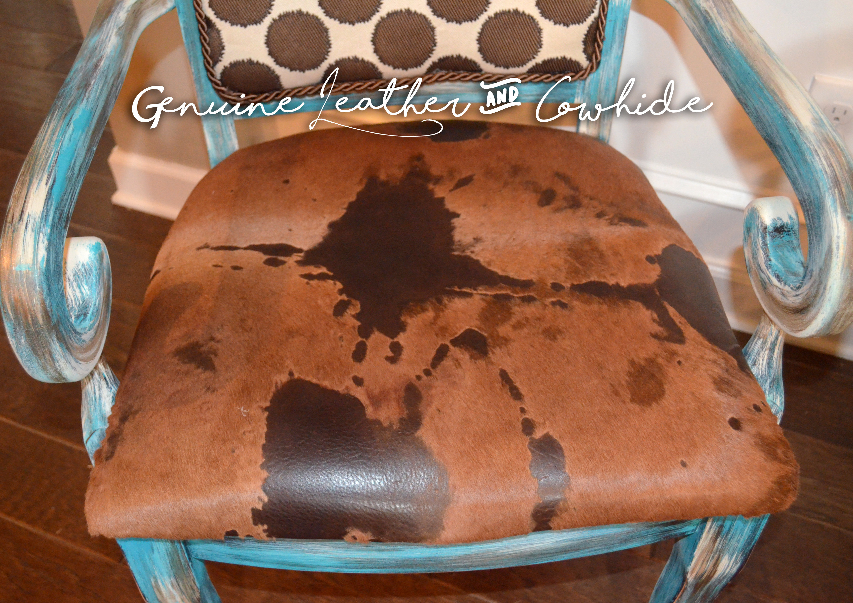 Poky Hide Designer Arm Chairs Set Of 2
