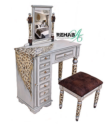 """""""Wild Thang"""" Makeup & Jewelry Armoire"""