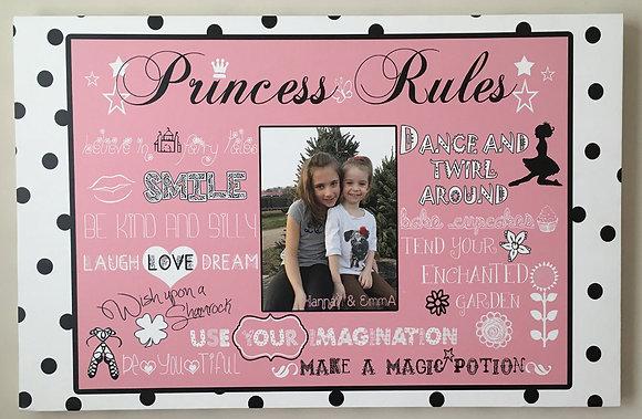"""Irish Dancer Princess Rules"" Custom Digital Canvas Print"