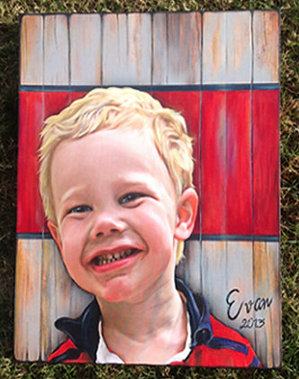 """Evan"" Custom Photo Canvas Painting"
