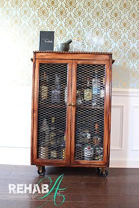 """Swanky Liquor Cabinet"" Old World Finish"