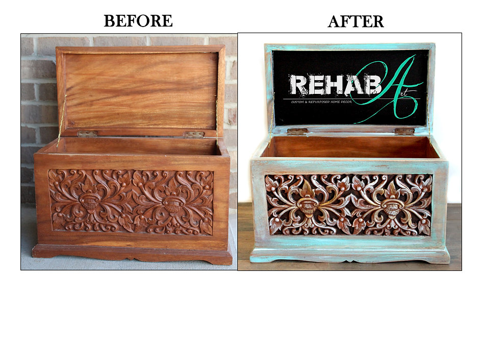 Lotus Minature Hope chest Before and Aft
