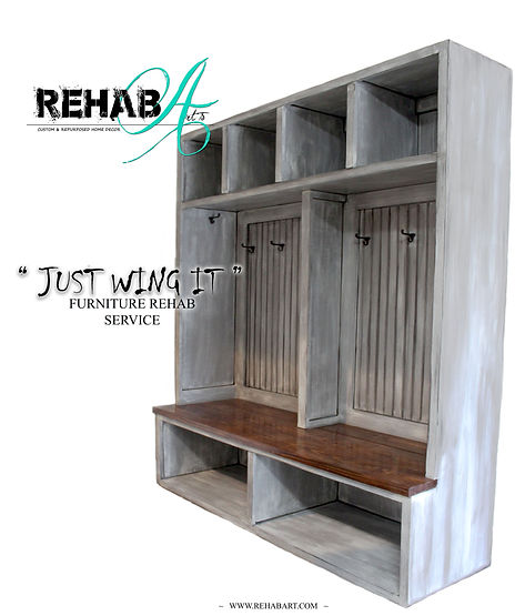 Just wing it furniture rehab service ad.