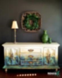 REHABArt Abstract Paint & Patina Credenz