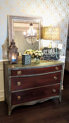 """Fancy Peacock"" Huntley Bow Front Dresser"