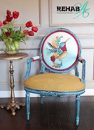 Hand Painted Hummingbird Accent Chair.jpg