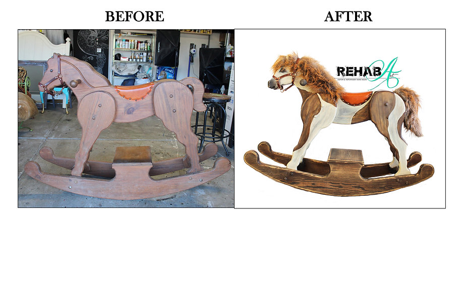 Charlie the Wooden Rocking Horse before