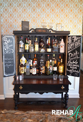 """THE PROHIBITION SALOON""         Liquor Cabinet"