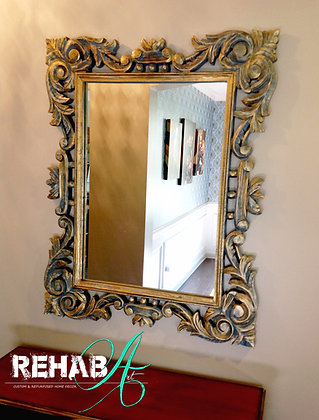 """Mirror Mirror on the Wall"" Gold Glaze Finish"