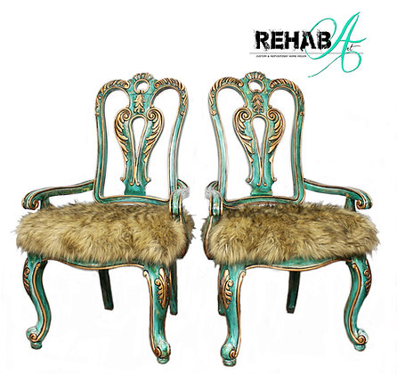 """Funky Patina"" Parlor Chairs"