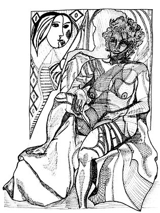 """Picasso Tattoo Women"" Digital Print"