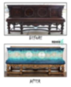 Metallic Blue Hues Jacobean sideboard Be