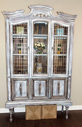 """""""Not Your Grandmothers Hutch Anymore"""" Driftwood Finish"""