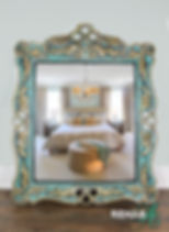 Scrolled Feather Emperors Mirror Bedroom