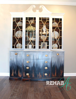 """""""Molly"""" The 1950's Breakfront China Cabinet/Bookcase"""