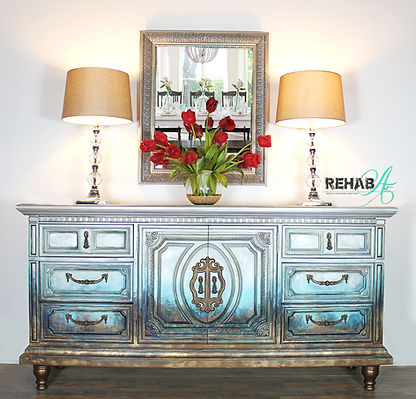 Abstract Metallic Ombre Credenza Perfect