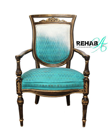 """""""Ombre Chevron Royal"""" Accent Chair"""