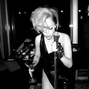 w/Lady Gaga at New York Bar