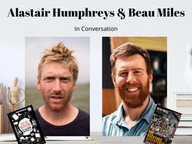 Hosting Beau Miles and Alastair Humphreys on Booktopia TV!