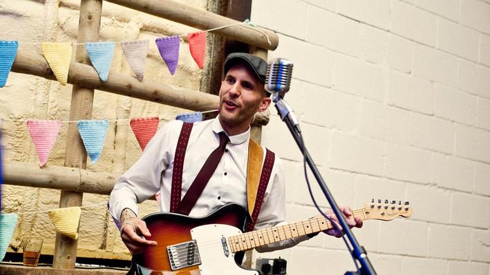 Paul in a wedding barn