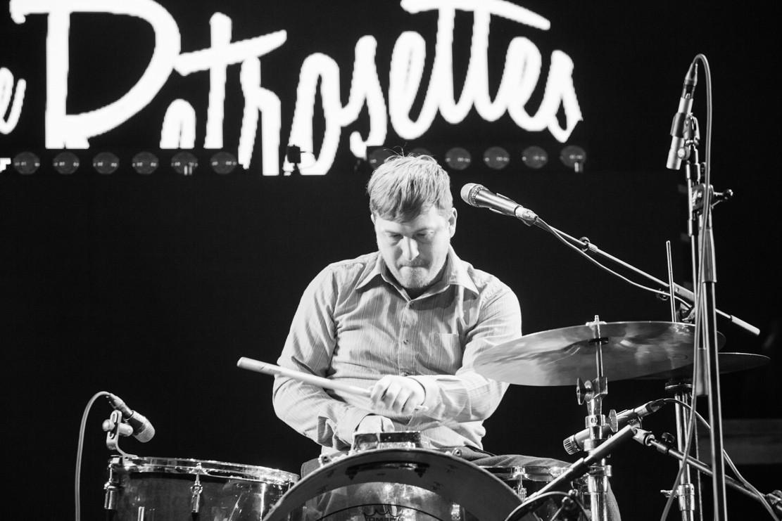 Rick on drums