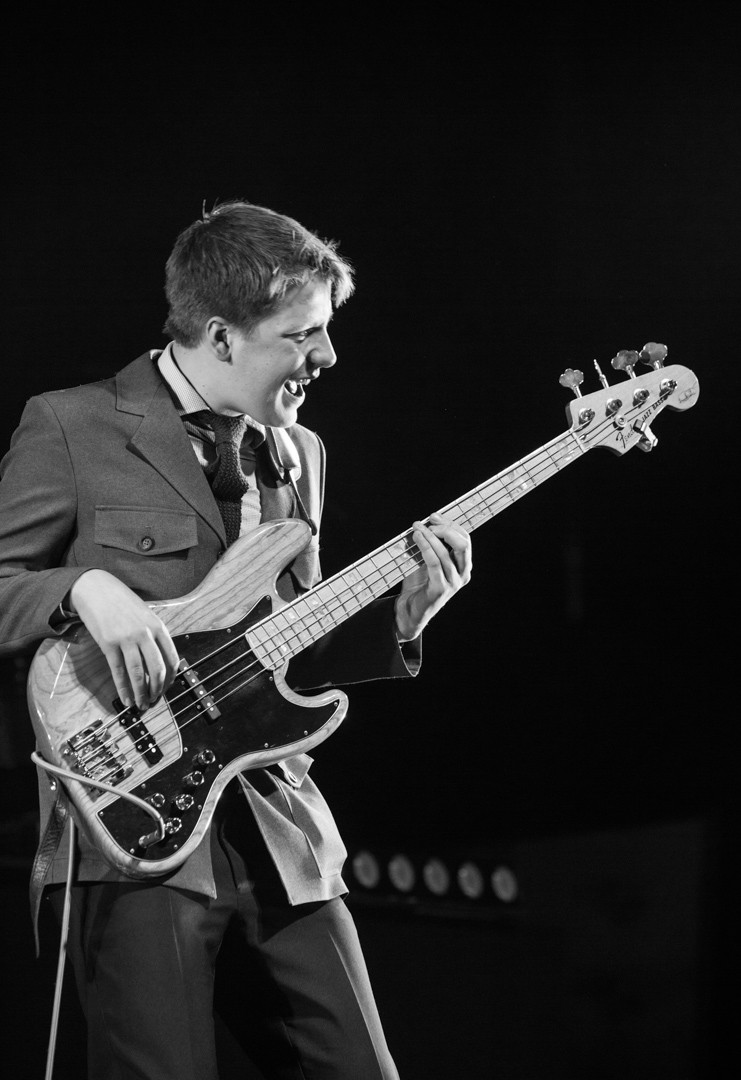 Tommy on bass