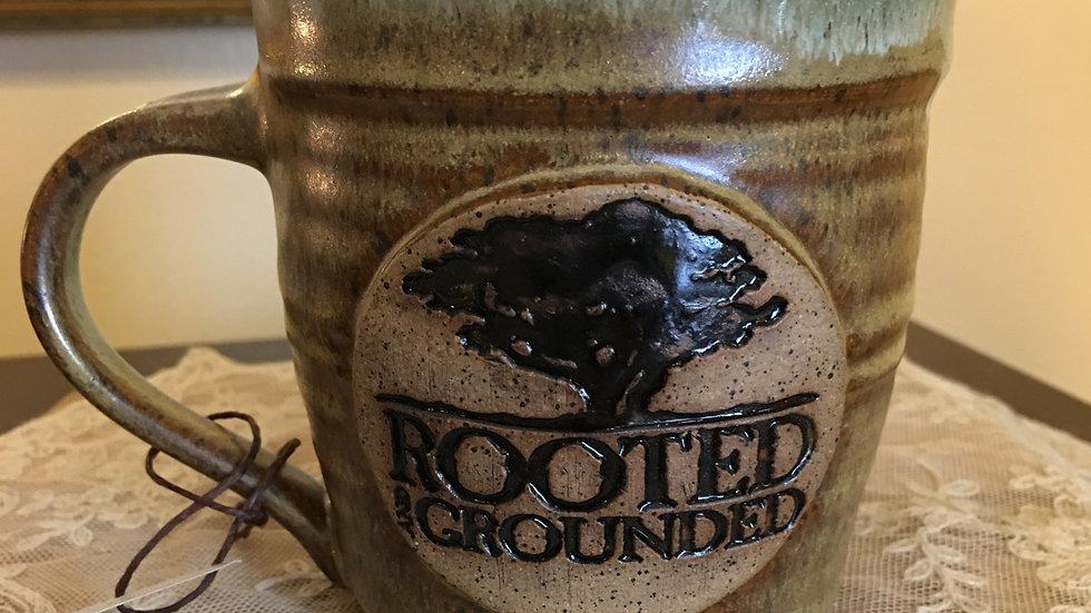 Brown with Mint Pottery Mug