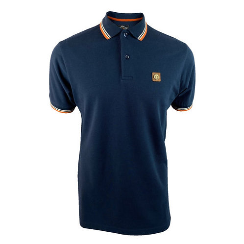 Trojan Badged Pique Polo TC/1007 Navy