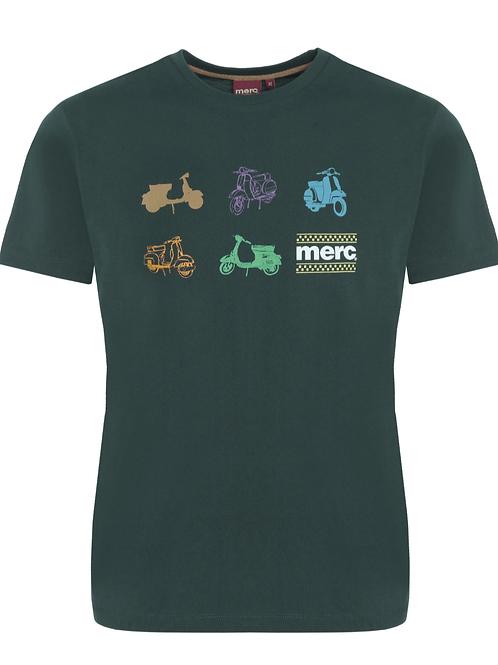 Merc London Tee Shirt Bottle Green