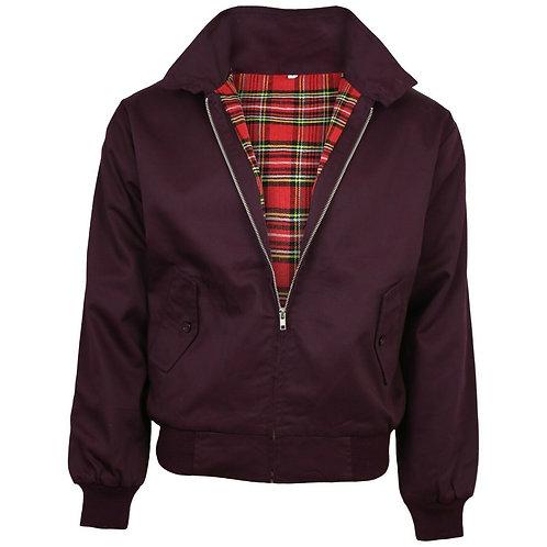 Relco Harrington Jacket in Burgundy