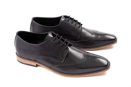 Ikon Leather Howard Brogue in Black