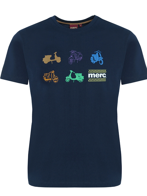 Merc London Tee Shirt Navy