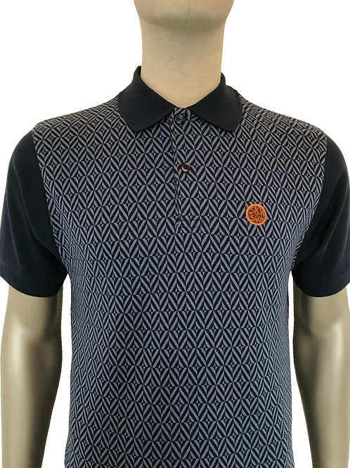 Ska and Soul Diamond Panel Polo Navy